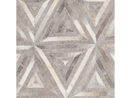 Surya Medora Dark Brown / Taupe Cream Khaki Light Gray Square Sample