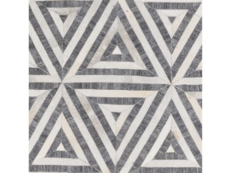 Surya Medora Charcoal / Taupe Cream Beige Square Sample
