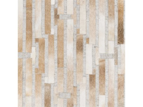 Surya Medora Camel / Khaki Cream Light Gray Square Sample