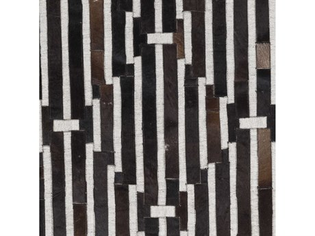 Surya Medora Black / Dark Brown Ivory Square Sample