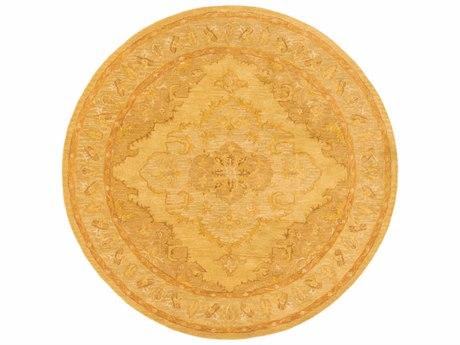 Surya Middleton Mustard / Tan Camel Round Area Rug