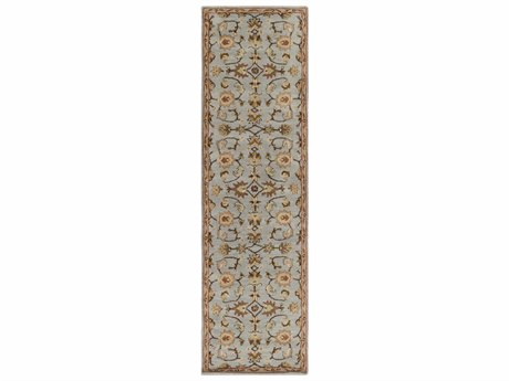Surya Middleton Medium Gray / Dark Brown Taupe Tan Rust Khaki Cream Runner Area Rug