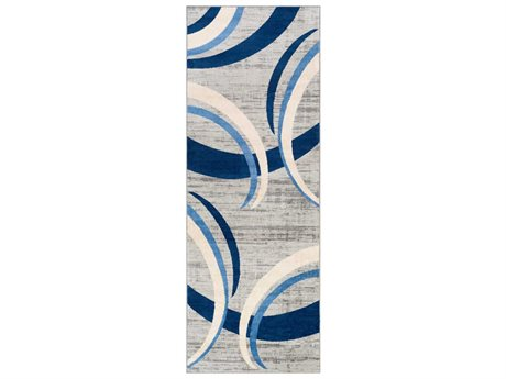 Surya Monaco Navy / Silver Gray / Cream Runner Area Rug