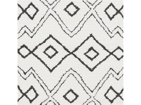 Surya Moroccan Shag Black / Charcoal White Square Sample