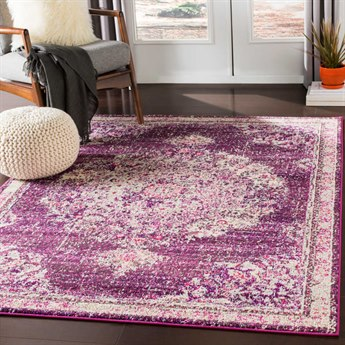 Surya Morocco Fuchsia / Navy Charcoal Coral Pale Blue Camel Light Gray Beige White Rectangular Area Rug