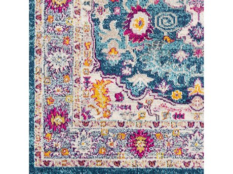 Surya Morocco Teal / Pale Blue Navy Fuchsia Coral Camel Light Gray Saffron Bright Yellow Orange Charcoal Red Beige White Square Sample