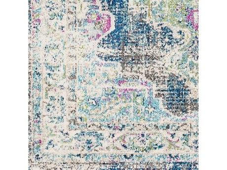 Surya Morocco Navy / Teal / Pale Blue / Fuchsia Square Sample
