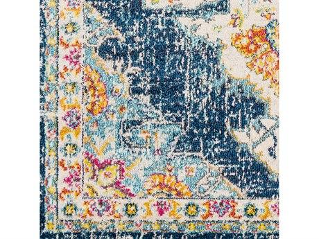 Surya Morocco Teal / Navy / Yellow Square Sample