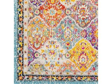 Surya Morocco Teal / Bright Orange / Fuchsia / Saffron Yellow Square Sample
