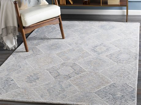Surya Morse Pale Blue / Camel / Cream Rectangular Area Rug