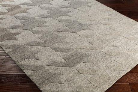 Surya Mountain Rectangular Medium Gray, Wheat & White Area Rug