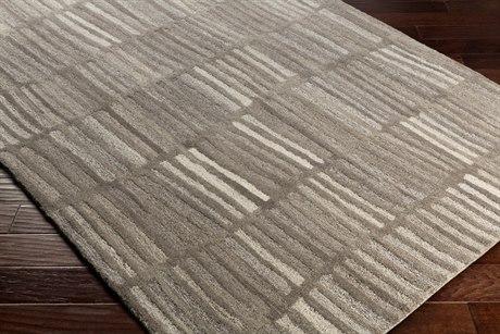 Surya Mountain Rectangular Medium Gray, Light Gray & White Area Rug