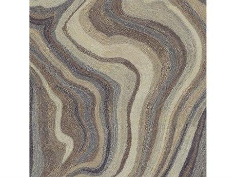 Surya Mountain Navy / Medium Gray Camel Dark Brown Khaki Square Sample
