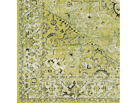 Surya Mumbai Lime / Grass Green Black White Square Sample