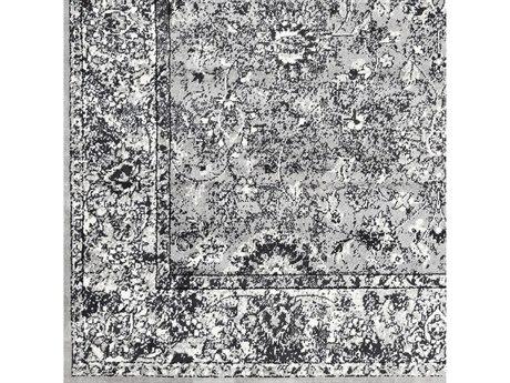 Surya Mumbai Medium Gray / Black White Square Sample