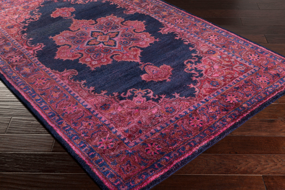 Surya Mykonos Rectangular Navy & Dark Purple Area Rug