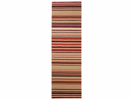 Surya Mystique Burgundy / Burnt Orange Dark Green Purple Khaki Camel Violet Runner Area Rug