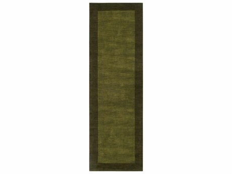 Surya Mystique Dark Brown / Green Runner Area Rug