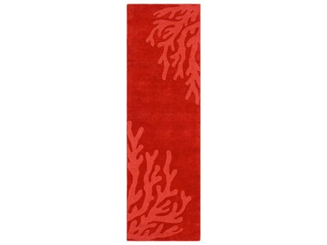 Surya Mystique Dark Red Runner Area Rug