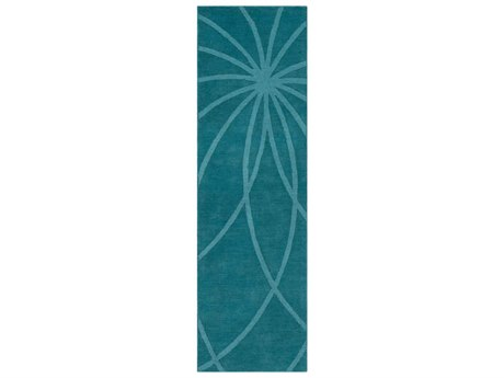 Surya Mystique Teal Runner Area Rug