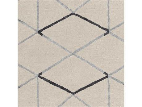 Surya Naya Black / Medium Gray Ivory Square Sample