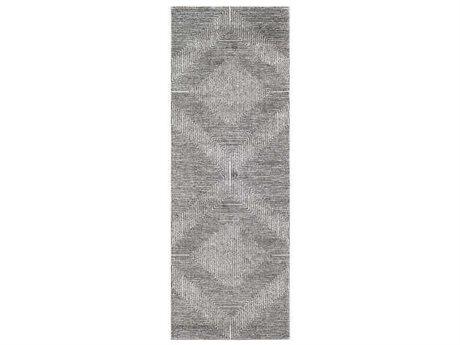 Surya Nepali Black / Medium Gray / Cream Runner Area Rug