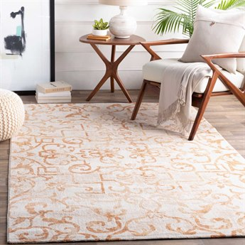 Surya Notting Hill Burnt Orange / Peach / White Rectangular Area Rug