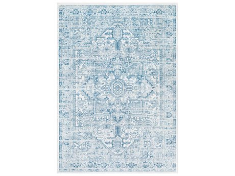 Surya Nova Denim / White Pale Blue Rectangular Area Rug