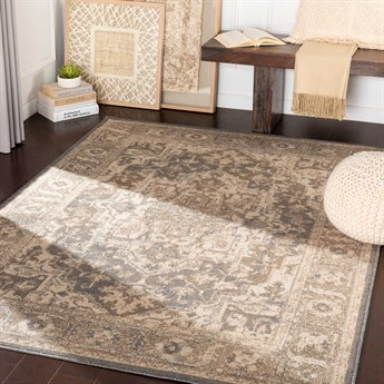 Surya Oslo Charcoal / Camel / Light Gray Rectangular Area Rug