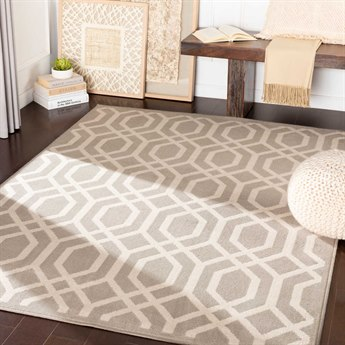 Surya Oslo Light Gray / Cream Rectangular Area Rug