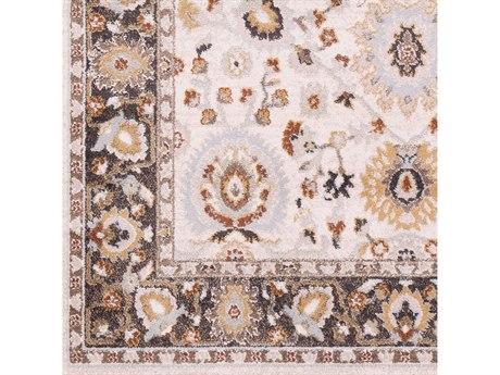 Surya Oushak Pale Blue / Cream Black Camel Mustard Light Gray Burnt Orange Sage Square Sample
