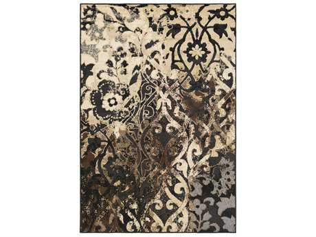 Surya Paramount Rectangular Black, Beige & Dark Brown Area Rug SYPAR1066REC