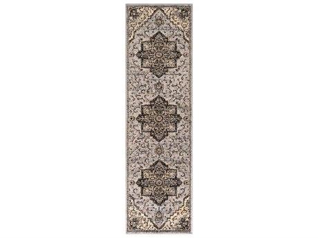 Surya Paramount Medium Gray / Charcoal / Khaki Runner Area Rug