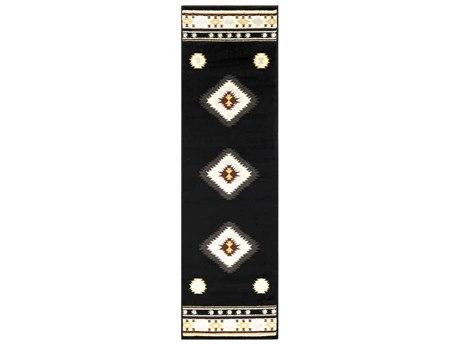 Surya Paramount Black / Charcoal / Khaki Runner Area Rug