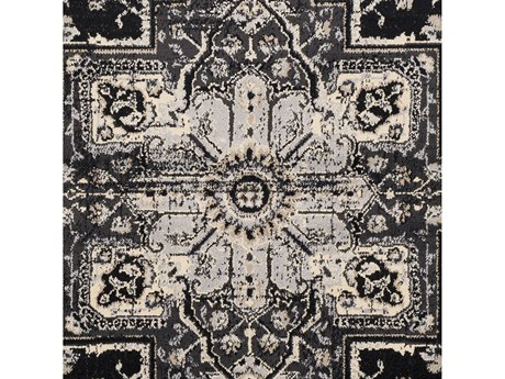 Surya Paramount Black / Charcoal Khaki Beige Square Sample