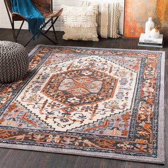 Surya Patina Medium Gray / Blush Charcoal Navy Burnt Orange Taupe Butter Bright Red Rectangular Area Rug