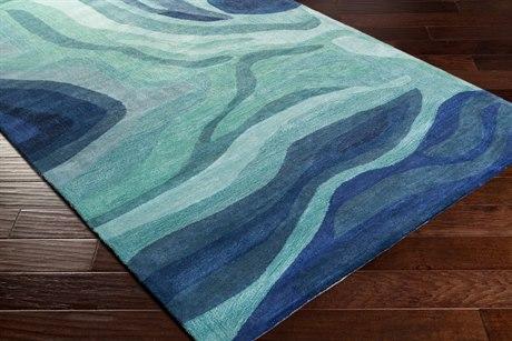 Surya Pigments Rectangular Teal, Violet & Silver Gray Area Rug SYPGM3003REC