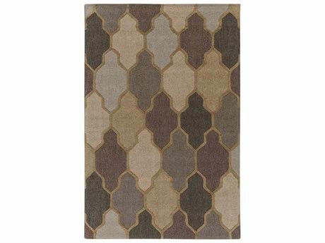 Surya Pollack Khaki / Camel Medium Gray Light Taupe Tan Rectangular Area Rug