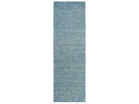Surya Prague 2'6'' x 8' Rectangular Aqua & Khaki Runner Rug