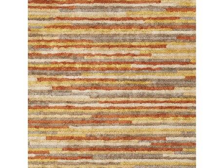 Surya Quartz Burnt Orange / Mustard Dark Brown Tan Khaki Square Sample