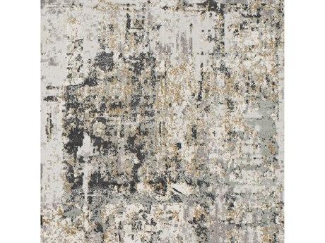 Surya Quatro Medium Gray / Silver Charcoal White Beige Tan Square Sample