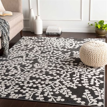 Surya Rabat Charcoal / White Rectangular Area Rug