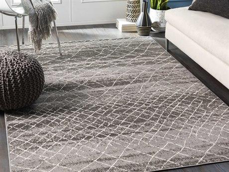 Surya Rafetus Black / Charcoal / White Rectangular Area Rug