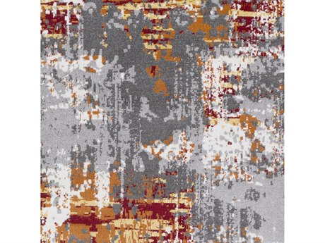 Surya Rafetus Burnt Orange / Dark Red Butter Medium Gray Charcoal White Square Sample