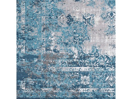 Surya Rafetus Teal / Medium Gray Charcoal White Square Sample