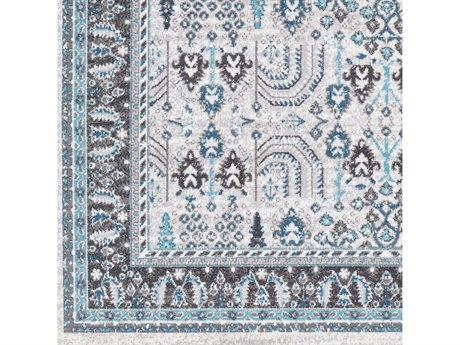 Surya Rafetus Teal / Medium Gray Charcoal Black White Square Sample