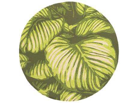 Surya Rain 8' Round Lime Area Rug