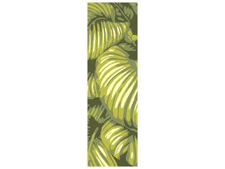 Surya Rain 2'6'' x 8' Rectangular Lime Runner Rug