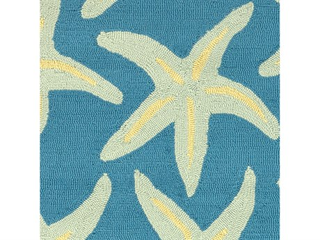 Surya Rain Bright Blue / Sea Foam Lime Square Sample