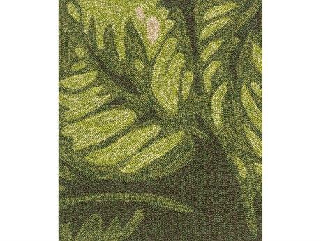 Surya Rain Lime / Dark Green Cream Ivory Brown Square Sample